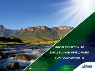 IDFC  PRESENTATION   TO SMALL BUSINESS DEVELOPMENT PORTFOLIO COMMITTEE