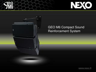 GEO M6 Compact Sound Reinforcement System