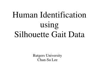 Human Identification using  Silhouette Gait Data