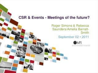 CSR & Events - Meetings of the future?