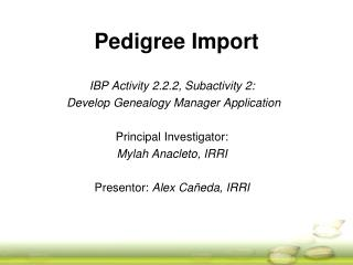 Pedigree Import