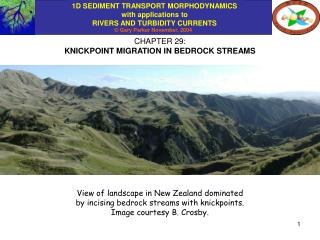 CHAPTER 29: KNICKPOINT MIGRATION IN BEDROCK STREAMS