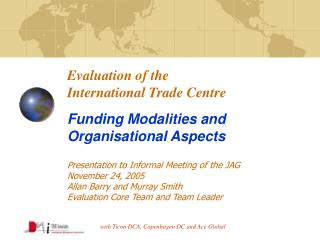 Evaluation of the  International Trade Centre Funding Modalities and Organisational Aspects