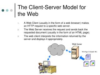 The Client-Server Model for the Web