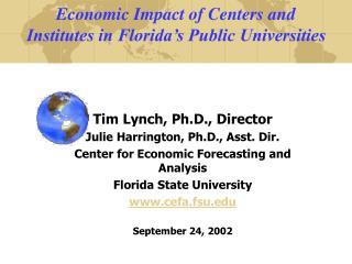 Economic Impact of Centers and  Institutes in Florida's Public Universities