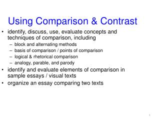 Using Comparison & Contrast