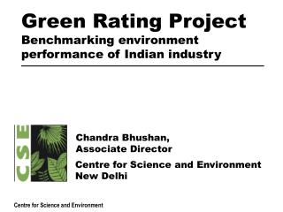 Green Rating Project Benchmarking environment performance of Indian industry
