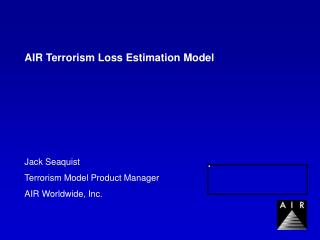 AIR Terrorism Loss Estimation Model