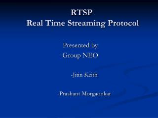 RTSP  Real Time Streaming Protocol