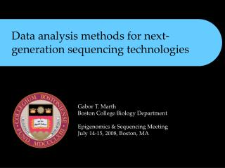 Data analysis methods for next-generation sequencing technologies