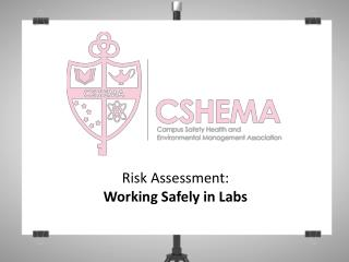 Risk  Assessment: W orking Safely  in  Labs