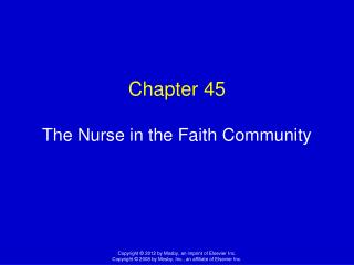 Chapter 45 The Nurse in the Faith Community