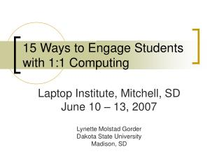 15 Ways to Engage Students with 1:1 Computing
