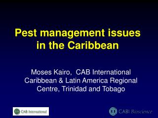 Pest management issues in the Caribbean