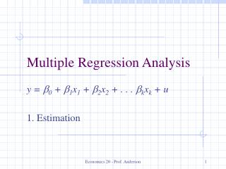 Multiple Regression Analysis
