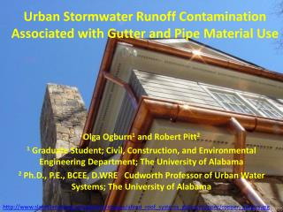 Urban Stormwater  R unoff Contamination Associated with Gutter and Pipe  M aterial U se