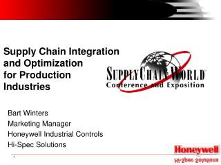Supply Chain Integration and Optimization for Production Industries