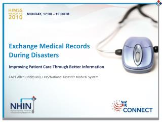 Exchange Medical Records During Disasters