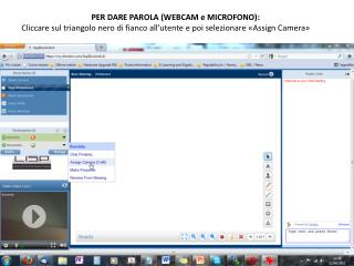 PER DARE PAROLA (WEBCAM e MICROFONO):