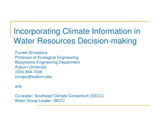 Southeast Climate Consortium Water Group