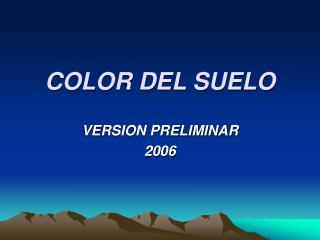 COLOR DEL SUELO