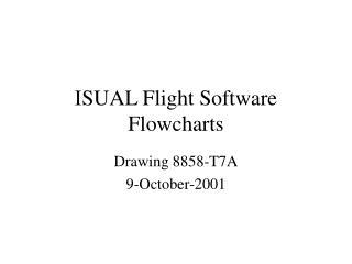 ISUAL Flight Software Flowcharts