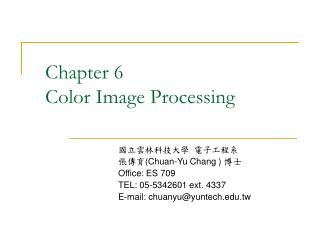 Chapter 6 Color Image Processing