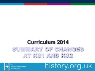Summary of Changes at KS1 and KS2