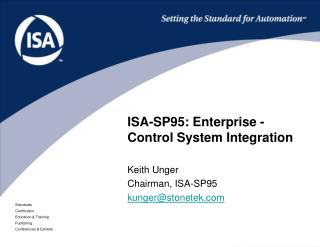 ISA-SP95: Enterprise -Control System Integration