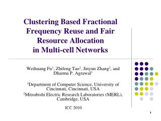 Clustering Based Fractional Frequency Reuse and Fair Resource Allocation  in Multi-cell Networks