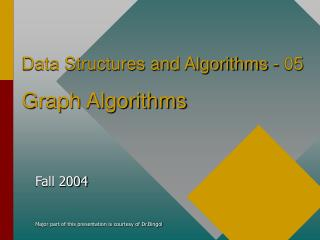 Data Structures and Algorithms - 05 Graph Algorithms