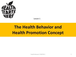 The Health Behavior and  Health  Promotion  Concept