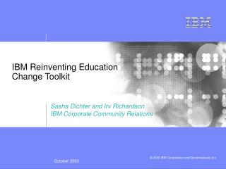 IBM Reinventing Education  Change Toolkit