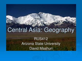 Central Asia: Geography