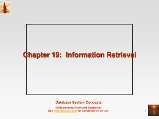 Chapter 19:  Information Retrieval
