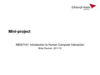 Mini-project