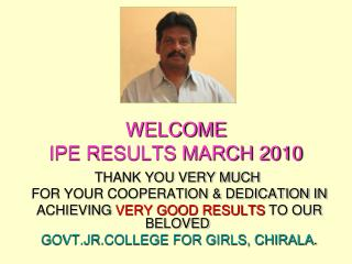 WELCOME IPE RESULTS MARCH 2010