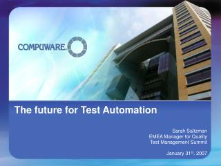 The future for Test Automation