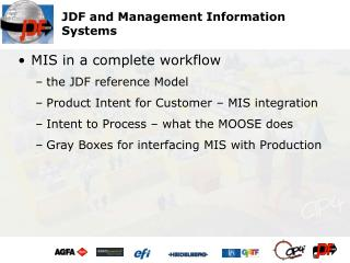 JDF and Management Information Systems
