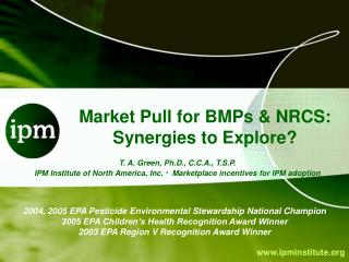 Market Pull for BMPs & NRCS: Synergies to Explore?