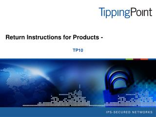 Return Instructions for Products -