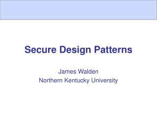 Secure Design Patterns