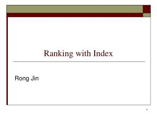 Ranking with Index