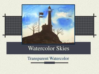 Watercolor Skies