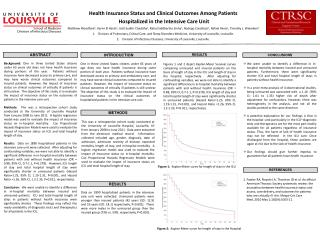Health Insurance Status and Clinical  Outcomes  Among  Patients