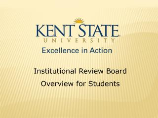 Institutional Review Board Overview for Students