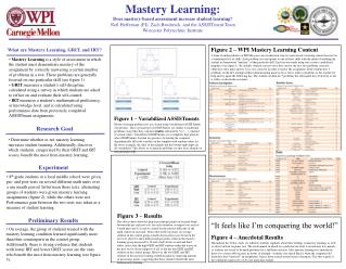 What are Mastery Learning, GRIT, and IRT?