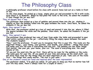The Philosophy Class