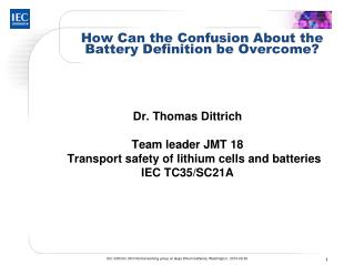 How Can the Confusion About the Battery Definition be Overcome?