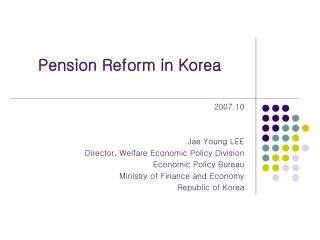 Pension Reform in Korea